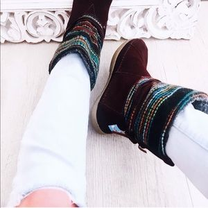 Toms Nepal woven pattern boot